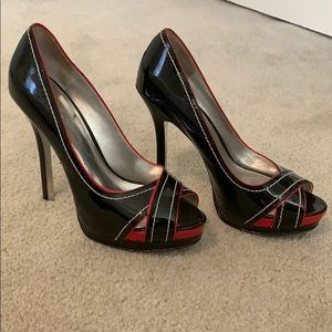 Jessica Simpson Peep Toe Lonna Pumps Sz 7.5